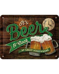 Beer O' Clock Metal wall sign 15x20cm