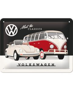 VW Meet The Classics Metal wall sign 15x20cm