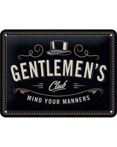 Gentlemen's Club Metal wall sign 15x20cm