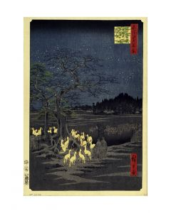 Hiroshige Foxes Meeting at Oji Art print 60x80cm