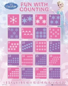 Counting with Frozen Poster 40x50cm