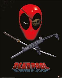 Deadpool Eye Patch Poster 40x50cm