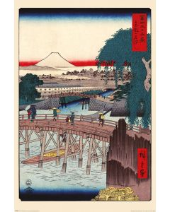 Hiroshige Ichikoku Bridge In The Eastern Capital Poster 61x91.5cm