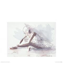 Ballet The beginning Art Print Aimee Del Valle 30x40cm