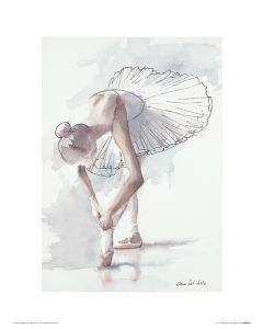 Ballet Stage fright Art Print Aimee Del Valle 30x40cm