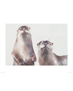 Two Otters Art Print Aimee Del Valle 60x80cm