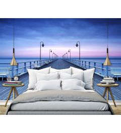 Pier On The Water 8-part Non-Woven Photo wallpaper 366x254cm
