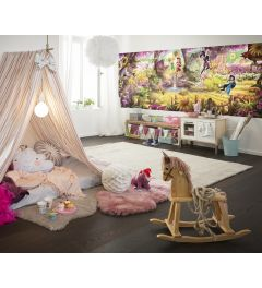 Fairies Forest 4-part Wall Mural 368x127cm