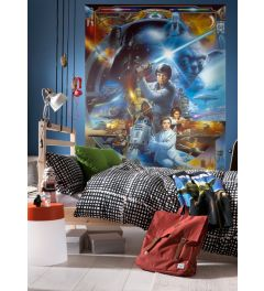 Star Wars Luke Skywalker Collage 4-part Wall Mural 184x254cm