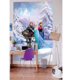 Frozen Winter 4-part Wall Mural 184x254cm