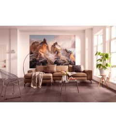 Torres Del Paine Wall 4-part Wall Mural 184x254cm