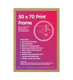 Frame 50x70cm Oak - MDF