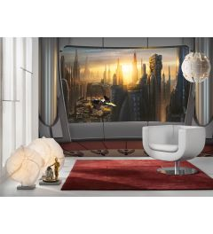 Star Wars Coruscant View 8-part Wall Mural 368x254cm