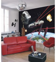 Star Wars Millennium Falcon 8-part Wall Mural 368x254cm