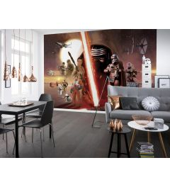 Star Wars EP7 Collage 8-part Wall Mural 368x254cm