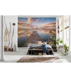 Pier With Sea View 8-part Wall Mural 368x254cm