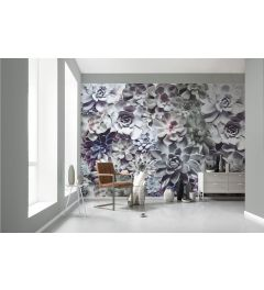 Flower Shadow 8-part Wall Mural 368x254cm