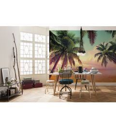 Miami Palm trees 8-part Wall Mural 368x254cm