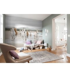 White Horses 8-part Wall Mural 368x254cm