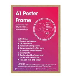 Frame 59,4x84cm Oak - MDF