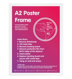 Frame A2 White - MDF
