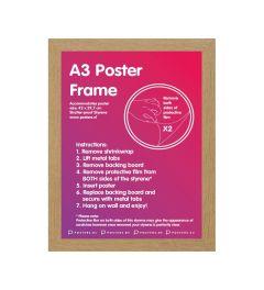 Frame A3 Oak - MDF