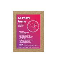 Frame A4 Oak - MDF