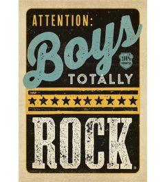 Boys Totally Rock Kunstdruk 42x59.4cm