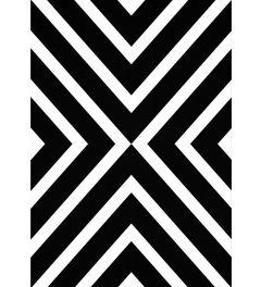 Geometric White Black