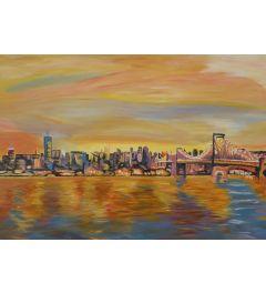 Golden New York City Skyline - M Bleichner