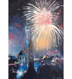 Landshut Bavaria Fireworks - M Bleichner