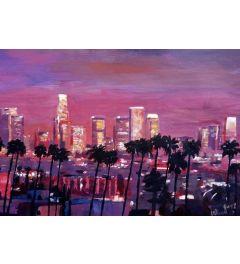 Los Angeles Golden Skyline II - M Bleichner