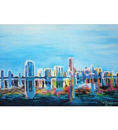 Miami Skyline Silhouette - M Bleichner