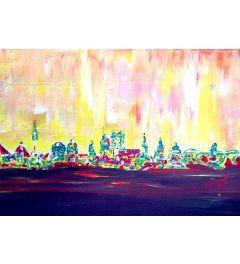 Muc Skyline in Neon Hell - M Bleichner