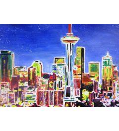 Neon Shimmering Seattle - M Bleichner
