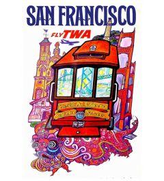 San Francisco Fly Twa Poster 42x59.4cm