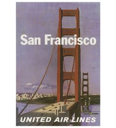 San Francisco United Airlines II Poster 42x59.4cm
