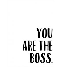 You Are The Boss