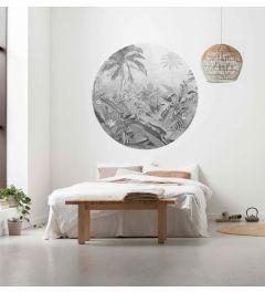 Amazonian Spirit Self-adhesive Wallpaper Circle ⌀125cm
