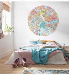 Cinderella Self-adhesive Wallpaper Circle ⌀125