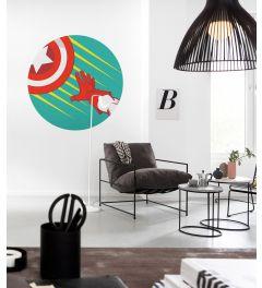 Avengers Captain's Shield Pop Art Self-adhesive Wallpaper Circle ⌀125