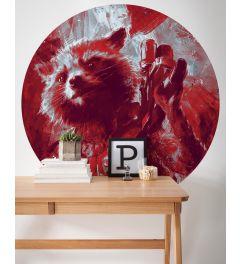 Avengers Painting Rocket Raccoon Self-adhesive Wallpaper Circle ⌀125