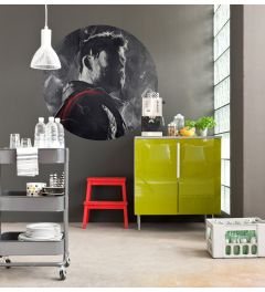 Avengers Painting Thor Self-adhesive Wallpaper Circle ⌀125