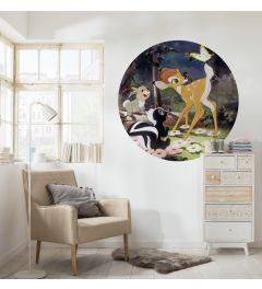 Bambi Butterfly Self-adhesive Wallpaper Circle ⌀125