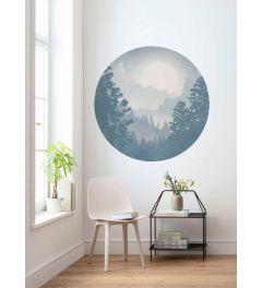 Blue Valley Self-adhesive Wallpaper Circle ⌀125cm