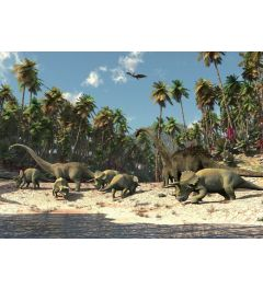 Dinosaurs 1-part Vlies Wall Mural 152x104cm