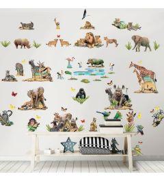 Jungle Safari Wall Sticker Set