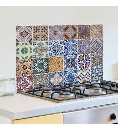 Kitchen Panel Azulejos various colors 65x47cm