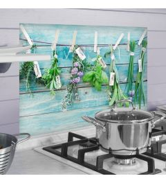 Kitchen Panel Fresh Herbs 65x47cm