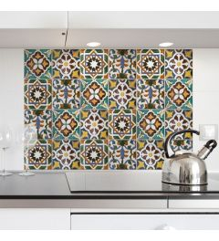 Kitchen Panel Green Tiles 65x47cm